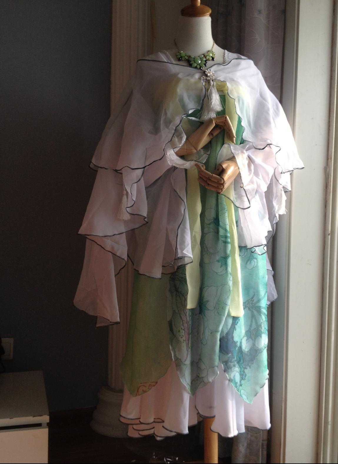 《花千骨》cos服——清新绿色