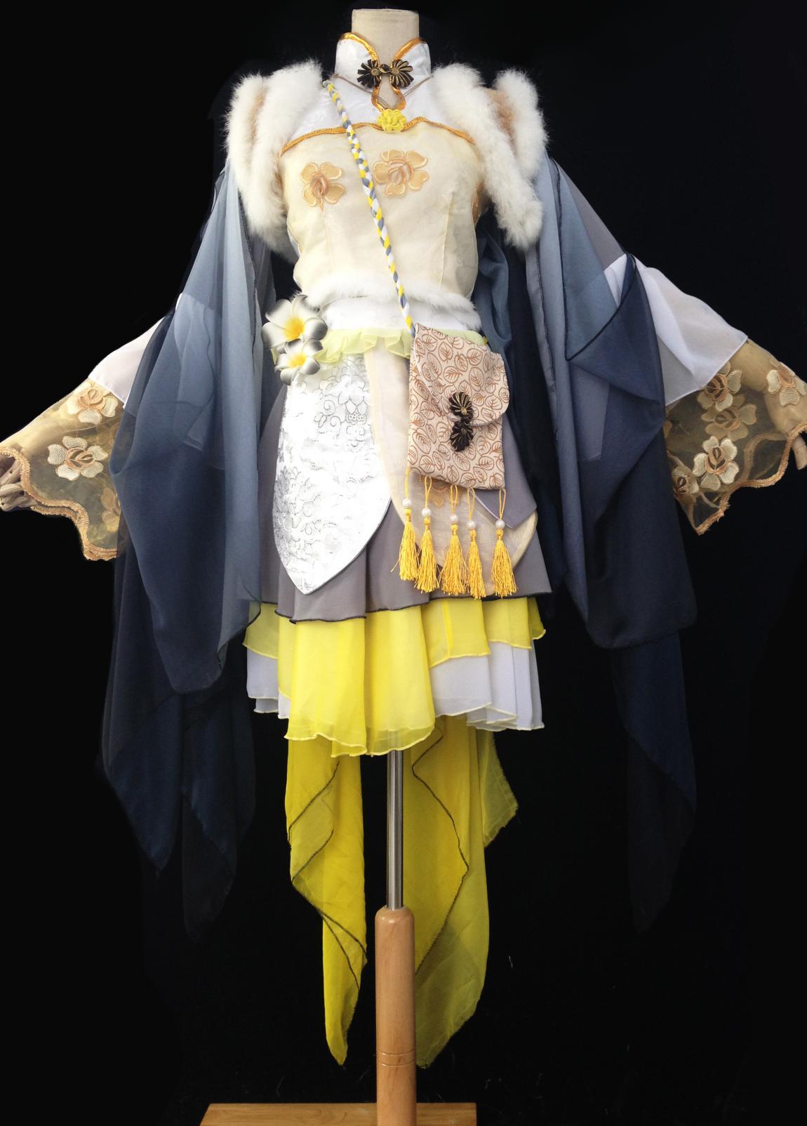 花千骨黄白色cos服