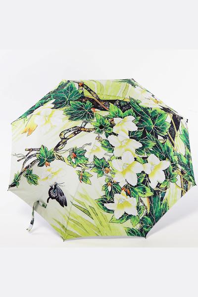 创意雨伞 中国风系列 绿藤花 防晒挡雨三折晴雨伞
