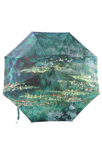 包邮创意雨伞 油画系列 莫奈作品睡莲 防晒挡雨三折遮阳伞