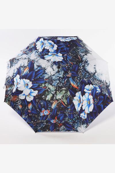 包邮 创意雨伞 蓝色妖姬 防晒挡雨三折晴雨伞