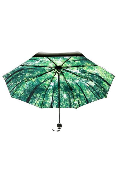 极致防晒情景体验 第五代情境小黑伞--漫步森林