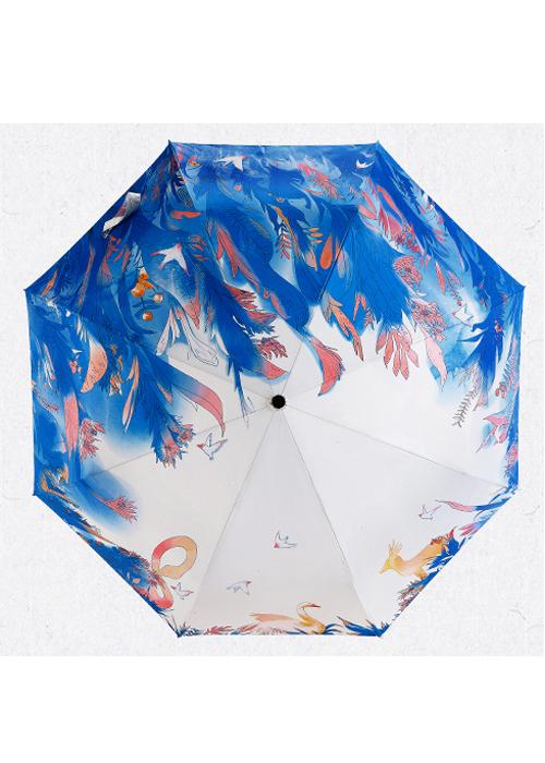 创意雨伞 绿野仙踪 防晒挡雨三折晴雨伞 包邮