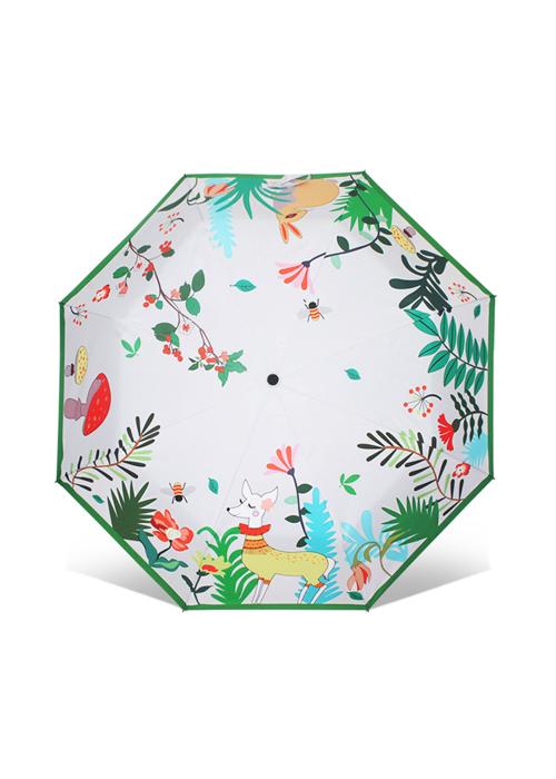 创意雨伞 五彩精灵 防晒晴雨三折伞